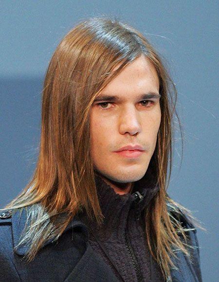 Glattes Haar, Lang, Mittel, Trending, Herren, Herren, Länge