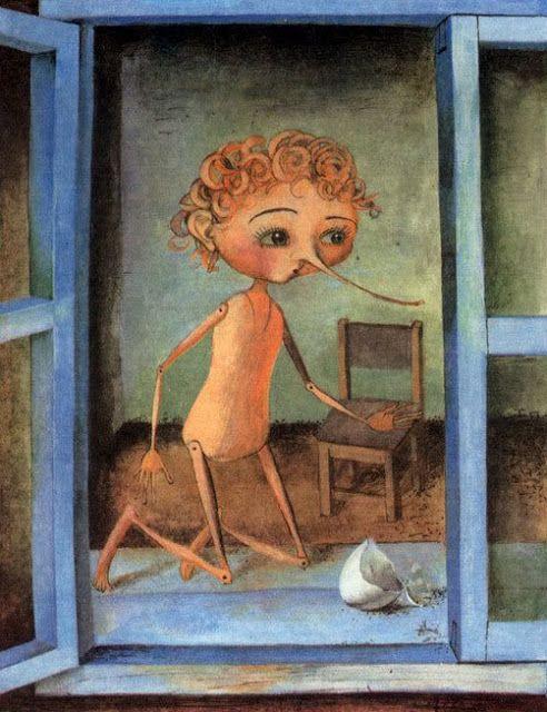 Ilustraciones Fabulous: Fairy Tales - Las aventuras de Pinocho / Pinocchio by  Alexander Koshkin