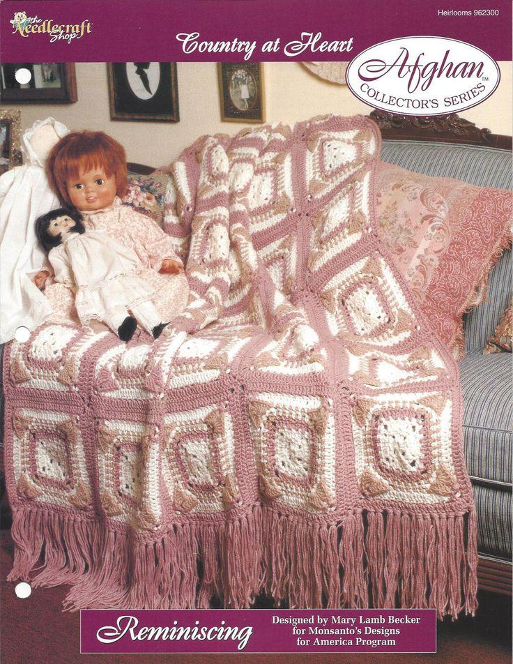 Crochê Avó Quadrados Afegão Padrão itens decorativos Criações -  /   Crochet Granny Square Afghan Pattern Knacks Creations -