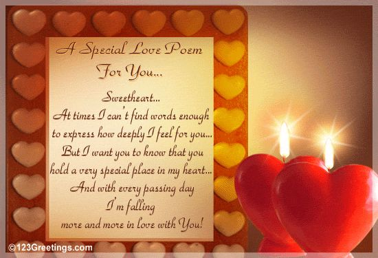 Romantic Love Poems for Husband | Special Love Poem! Free Gifts & Chocolates eCards, Greeting Cards ...