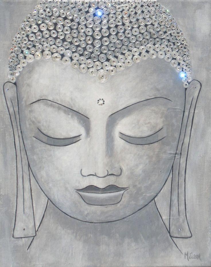 buddhabe: Love this Buddha Art - Swarovski Crystals & Acrylic on Canvas