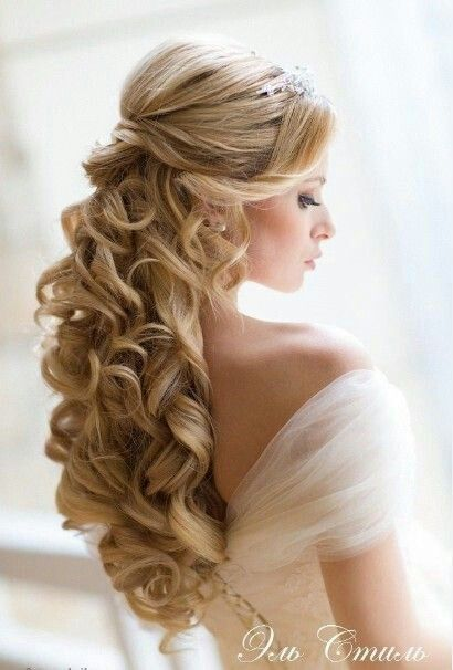 Half up Half down Wedding Hair Curls
