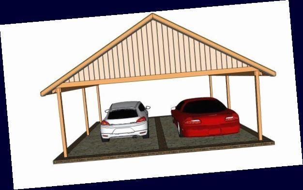 Carport Plans Br 2 Car Carport Plans Myoutdoorplans Free Woodworking Plans And Projects Diy Shed Wood In 2020 Wooden Playhouse Diy Shed Woodworking Plans Free
