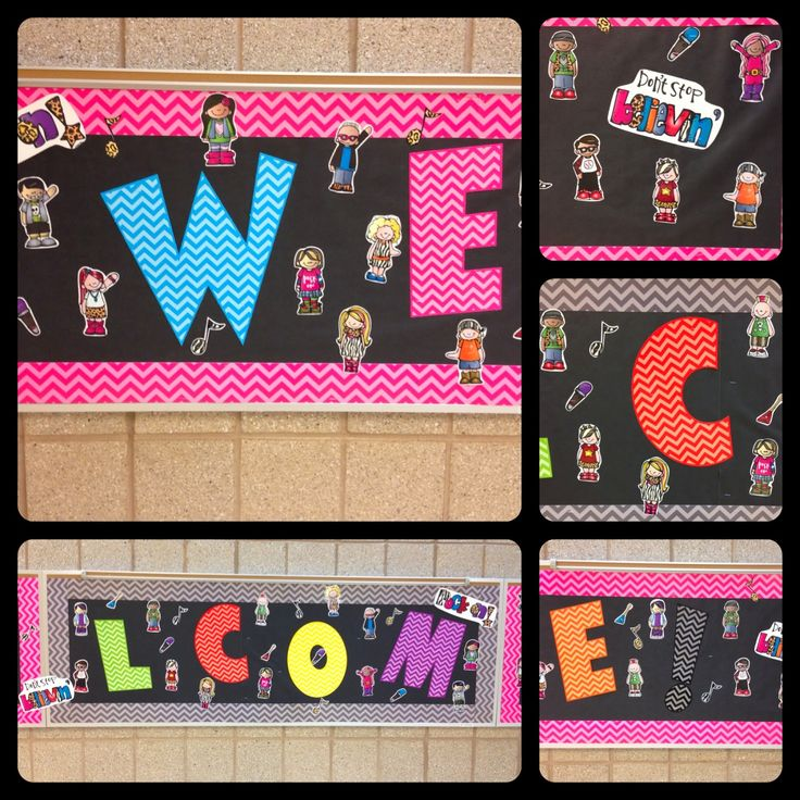 Classroom Decor Chevron : Chevron welcome bulletin board display classroom