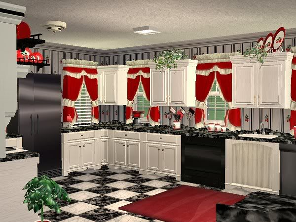 Beautiful Mod The Sims   McAlliu0027s Very Cherry Kitchen