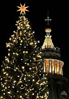The monumental Christmas tree that rises every year in the centre of St Peter's Square has become such an essential part of Rome's festive season that many people think it has always been an integral part of the Vatican Christmas celebrations.