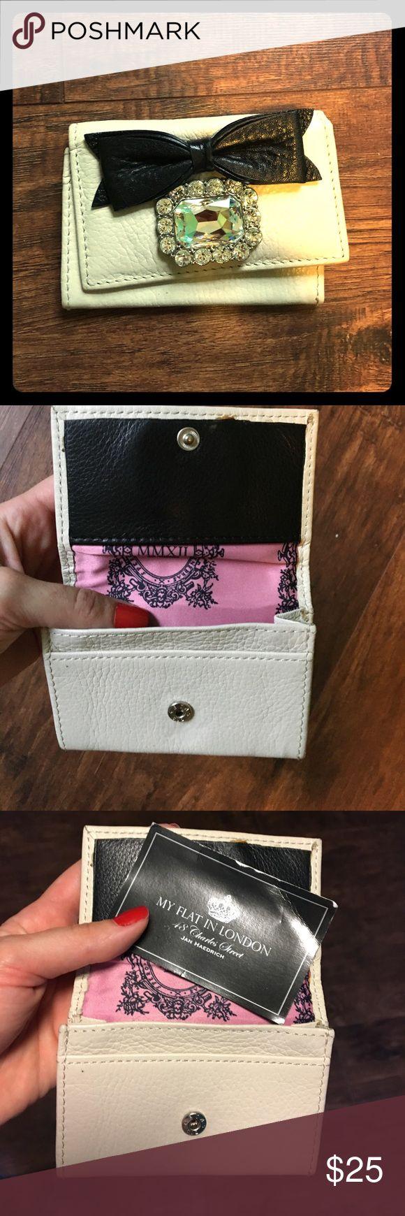 "Small glitzy wallet  by My Flat in London Adorable little beige wallet. ""My Flat in London"" never used. Tags still inside wallet. Misplaced dust bag My Flat in London Bags Wallets"
