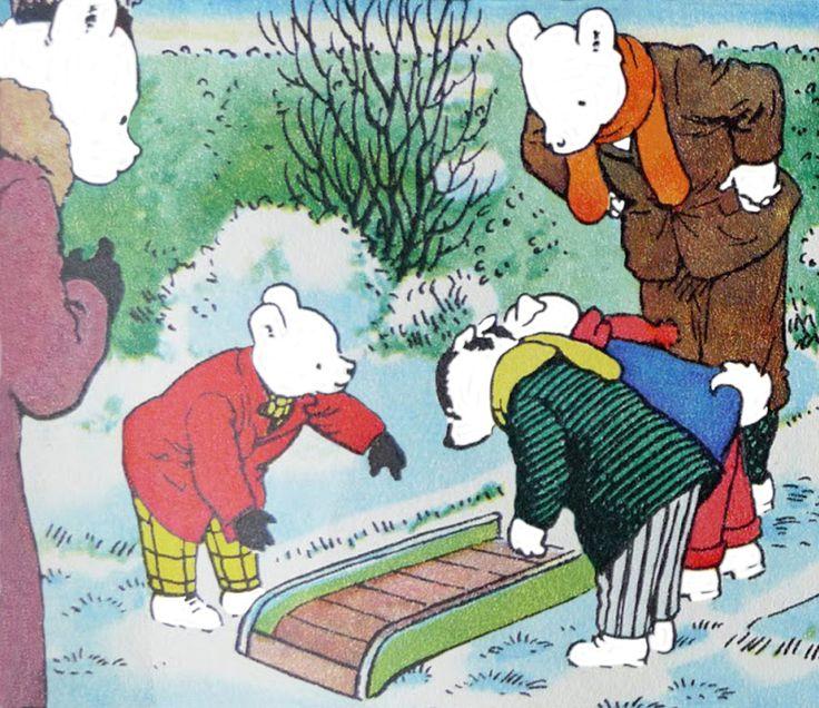 Rupert Bear shows off his new sleigh