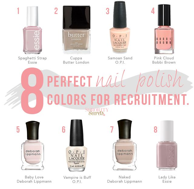 8 Perfect Nail Polish Colors for Recruitment