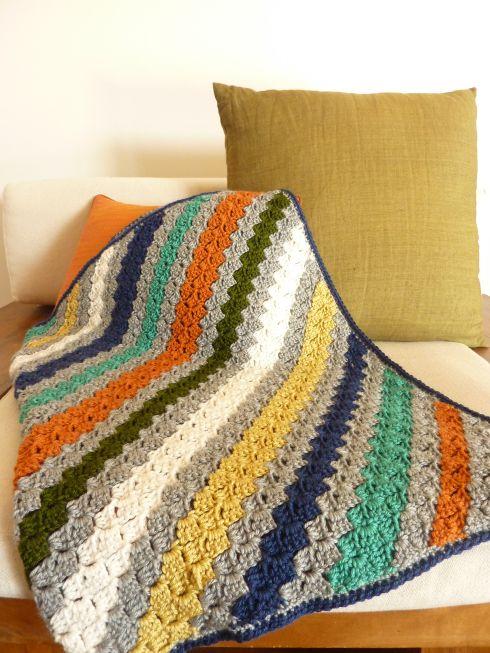 Crocheted Corner to Corner (C2C) blanket. #ravelry #spotlight40 #herrschners #c2c