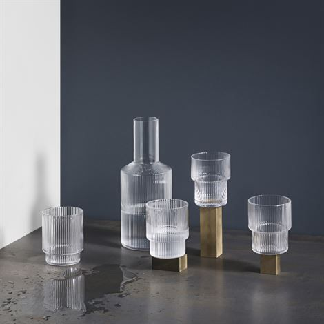 Aesthete Label love - Ripple carafe - clear - Ferm Living