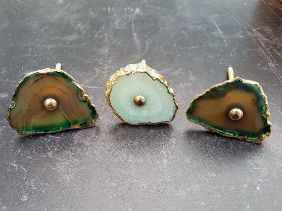 Agate Stone Gold Drawer Knobs,Agate Cupboard Knob Geode Drawer Pulls Agate Drawer Pulls Handle Stone Drawer Knob