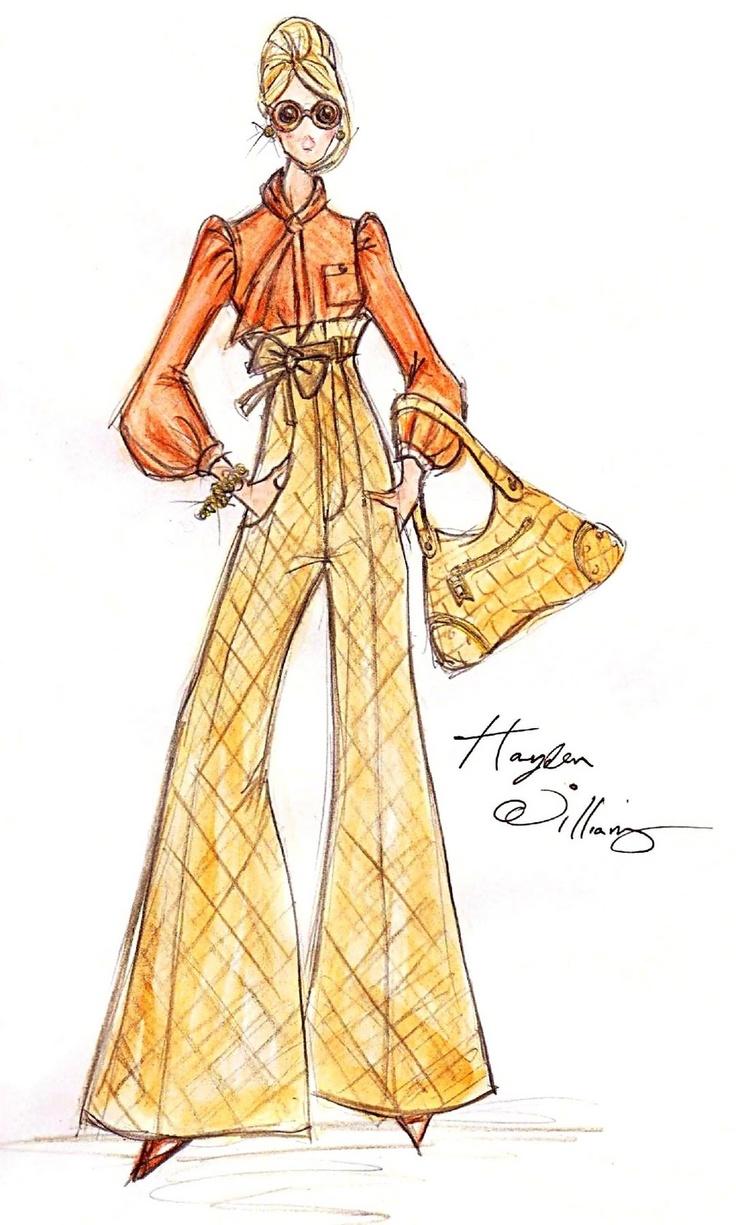 Barbie BFMC   Fashion Designer & Illustrator ~Hayden Williams~ January 27 2011 |Illustration style inspired by Barbie designer Robert Best.|