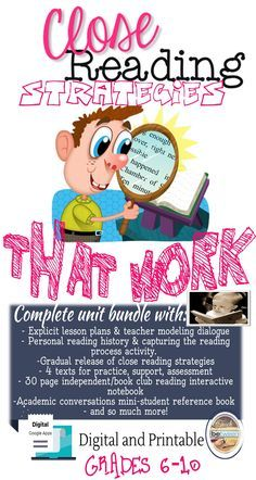 Teach your students how to use close reading strategies to improve reading comprehension and written analysis. Middle School Language Arts, High School Language Arts I Close Reading Strategies I Teaching Close Reading Strategies in Middle School I Close Reading Passages I Close Reading Middle School #closereadinglessons #closereading #teachingclosereading #closereadingsecondary