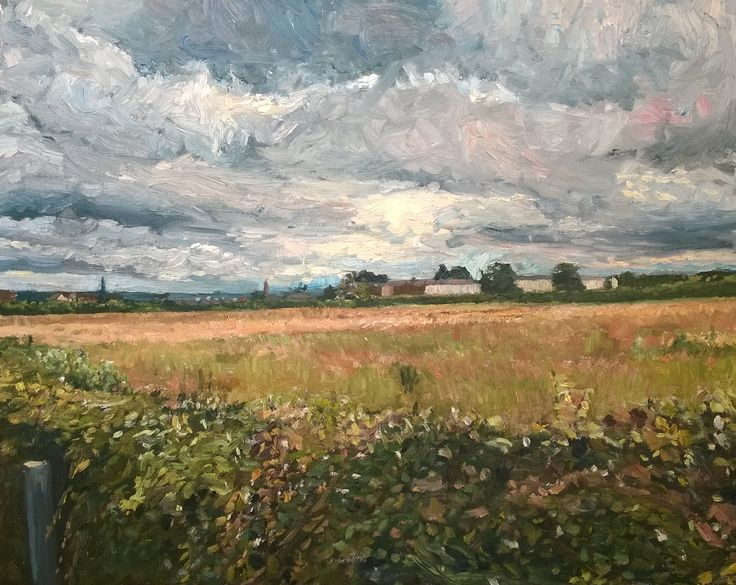 https://flic.kr/p/wQ66PD | View from the Long Causeway Wakefield New work | Oil 20 x 16 inches