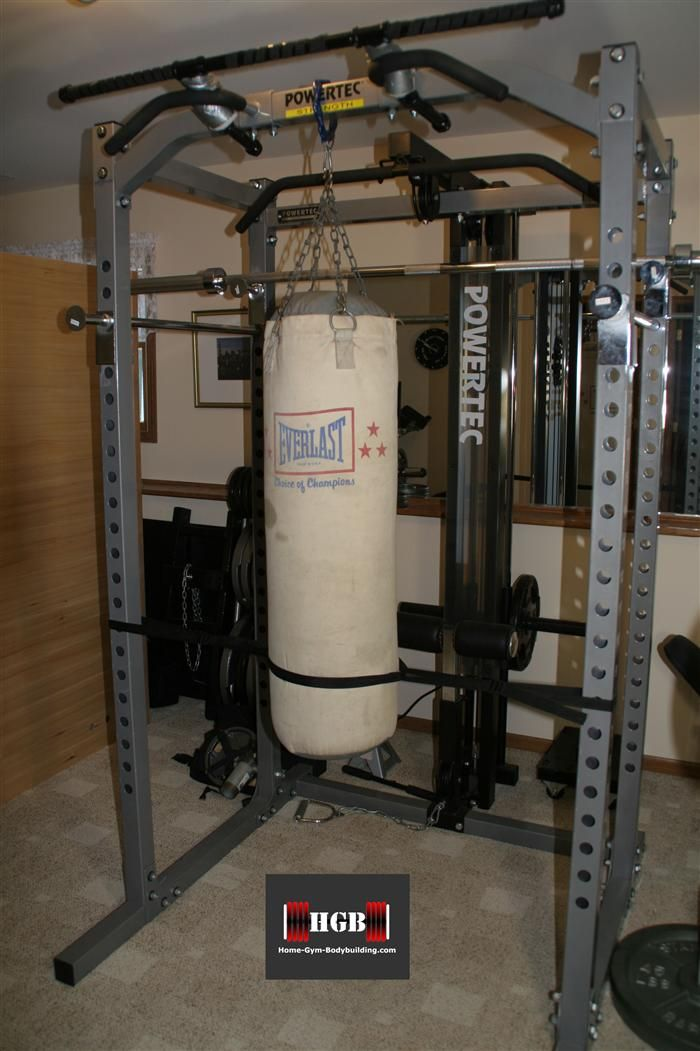 Homemade Heavy Bag Stand Home Gym Design Ideas