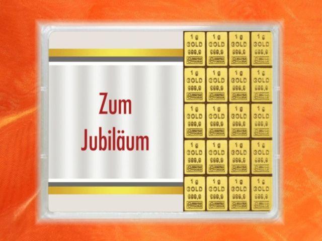20 g (20 x 1g) Goldbarren zum Jubiläum