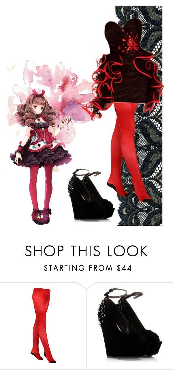 """fashion anime"" by stella-de-luna-fashion ❤ liked on Polyvore featuring Chantal Thomass"