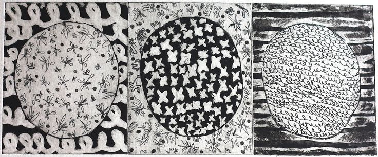 Rushka Gray's Patterned triptych