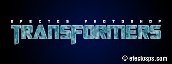 Sencillo tutorial photoshop en el cual aprenderemos a crear un efecto similar al texto de la película Transformers.