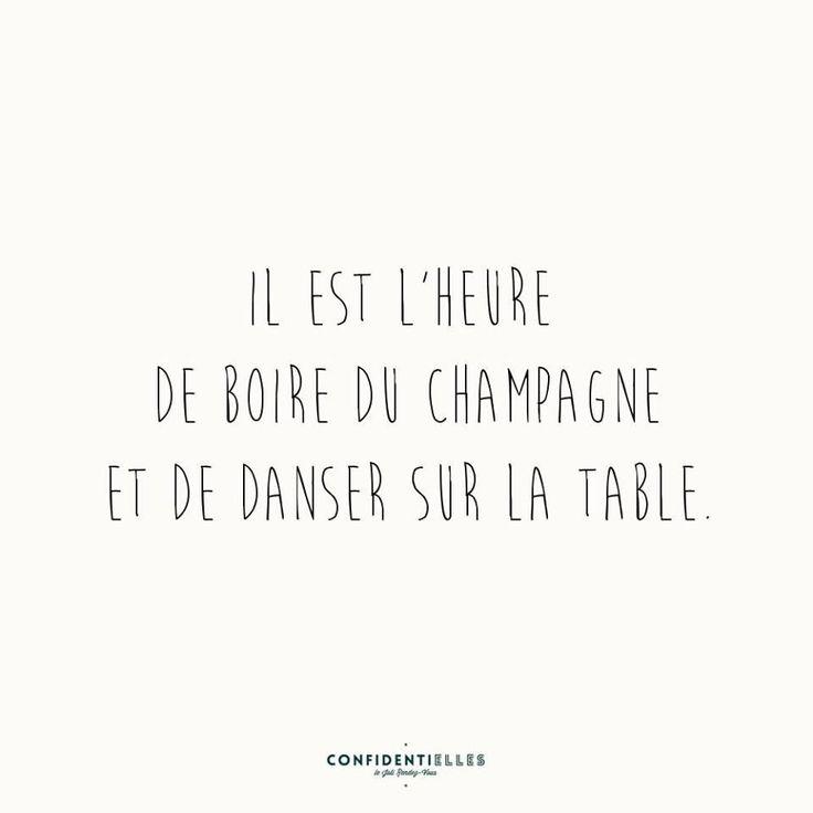 É hora de beber champanhe e dançar sobre a mesa