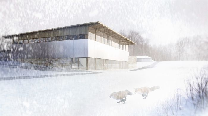 Multi-purpose sport hall in Osieck near Warsaw, Poland - design by Archimed Architecture, rendering