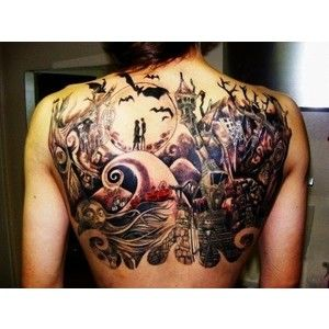 I love this tattoo design!!  I<3 Nightmare before Christmas