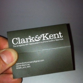 Clark&Kent business card (when it is closed...)