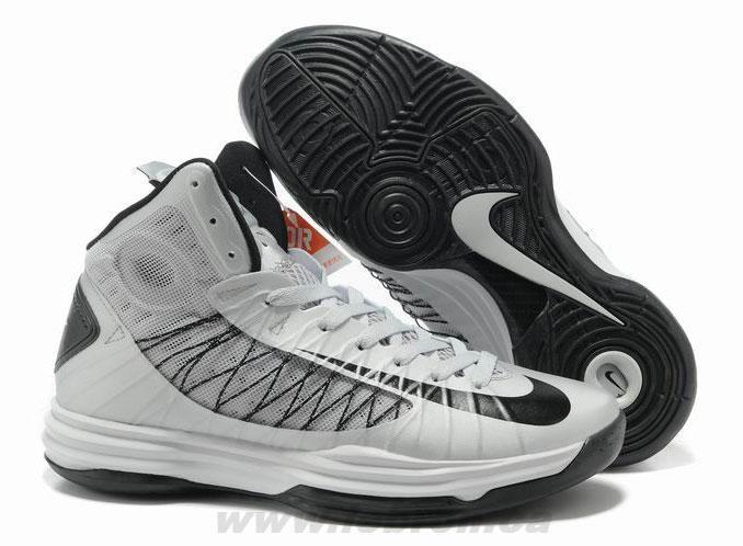 Buy Nike Lunar Hyperdunk 2013 Wolf Grey Black Men\u0027s Basketball Shoes For  Wholesale