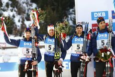 Mondiaux de biathlon : la France médaille d'argent derrière la Russie