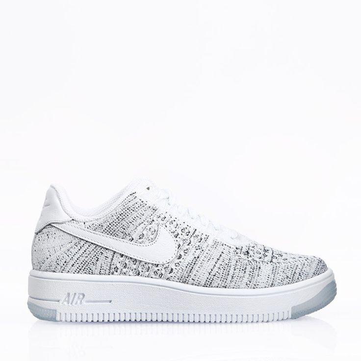 Nike Sportswear Skor - Air Force 1 Flyknit Low White/White/Black