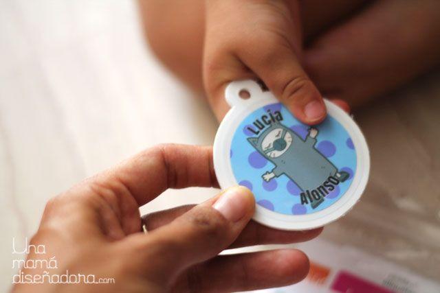 Nuestras etiquetas en el blog de una mamá diseñadora