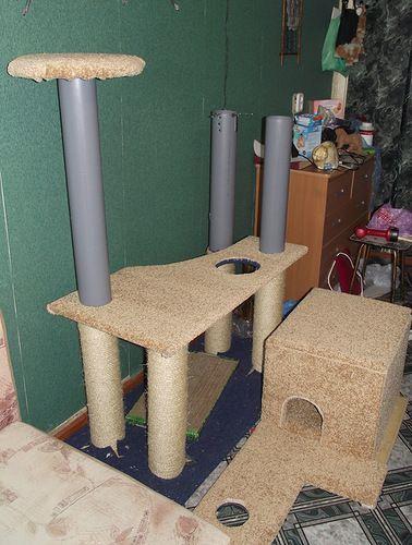 Кошачий домик. Мастер-класс - Nebka.Ru