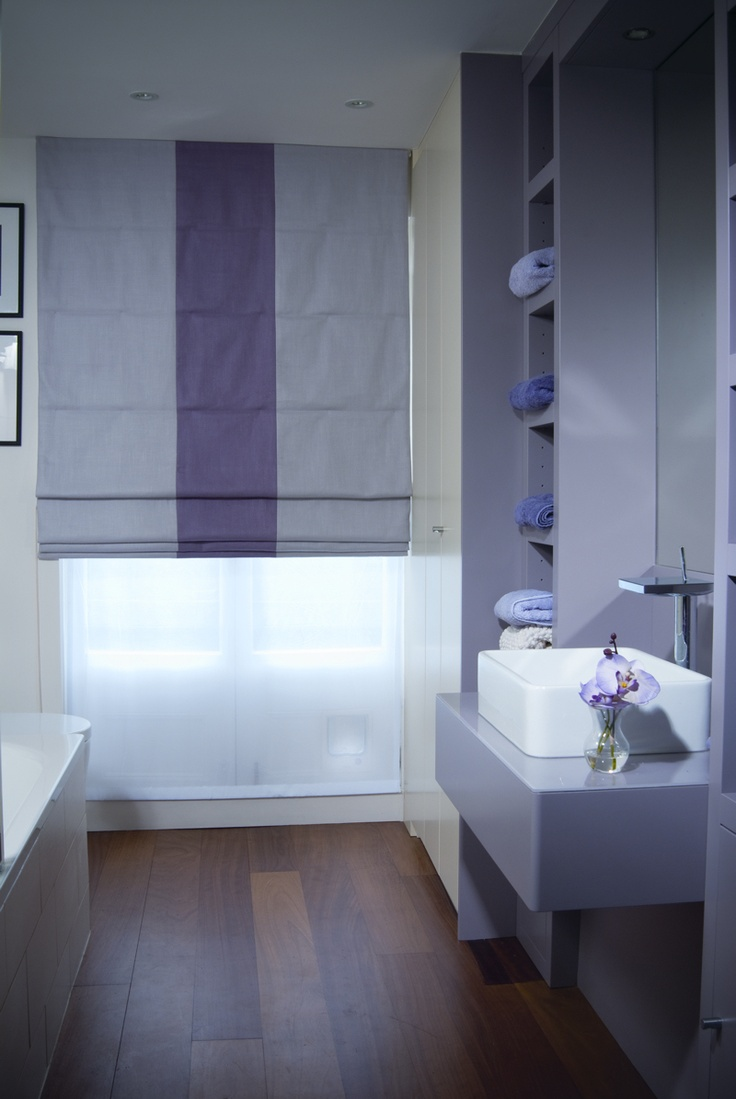 Blinds and curtains ideas - Roman Blind With Centre Stripe Roman Blinds Curtain Ideas