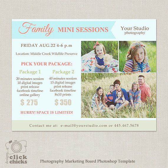 Family Mini Session Template  Photography by ClickChicksDesigns, $8.00