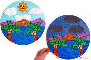 Sunny Days and Rainy Days craft. Great weather craft!