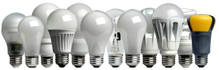 Comparing energy efficient lights (LEDs & CFLs) to traditional incandescent bulbs.