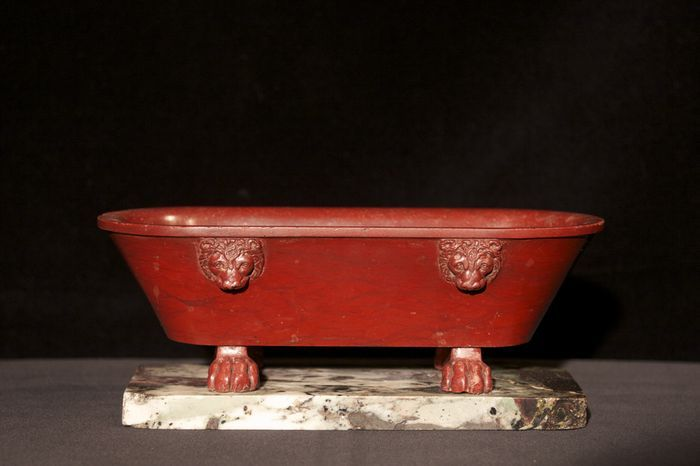 Grand Tour Rosso Antico Marble Bath - Archive Neoclassical Antiques UK