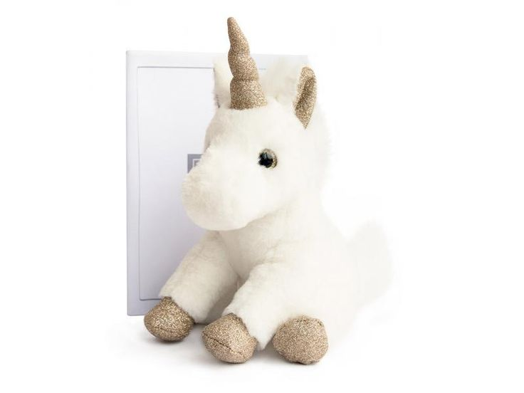 Histoire d'ours - Licorne or - Taille 23 cm #histoiredours #licorne #peluches #enfants #bebe #cadeaunaissance #cadeauxnoel
