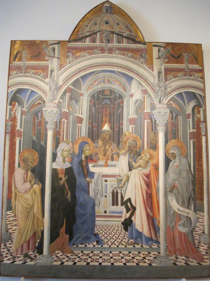 Живопись Джованни ди Паоло в Пинакотеке Национальной (Сиена). Представление Иисуса в храме.