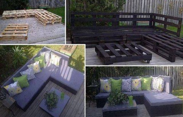 diy outdoor seating made from pallets deck pergola pinterest