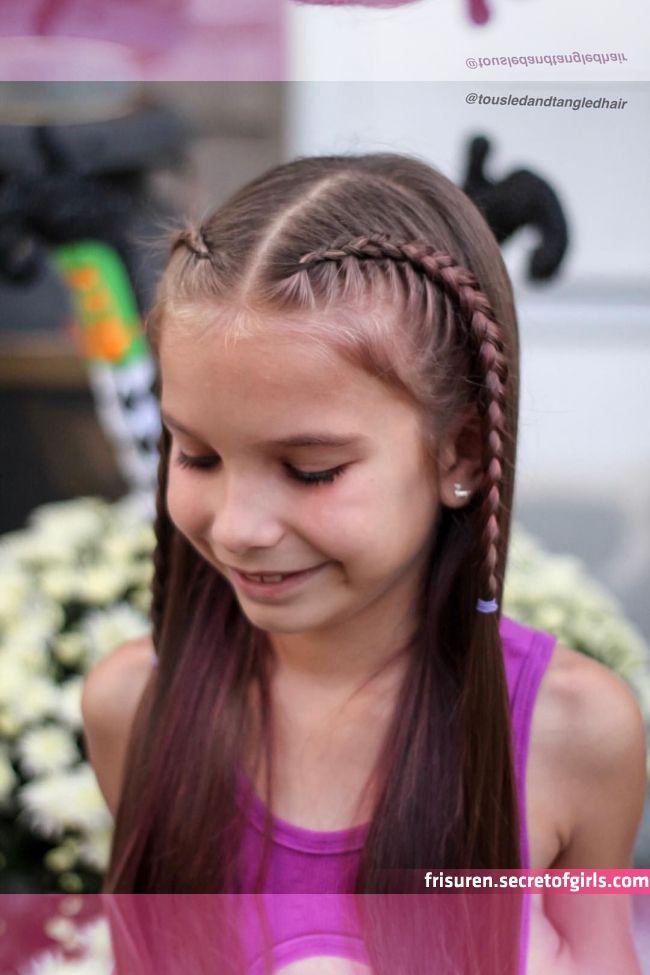 22 Peinados sencillos pelo suelto para ninas