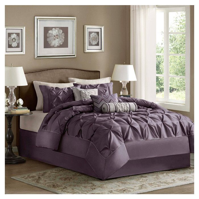 plum taupe pewter silver white adult bedroom color