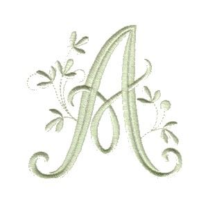 This is one of our most popular single letter Embroidery Fonts called Vintage