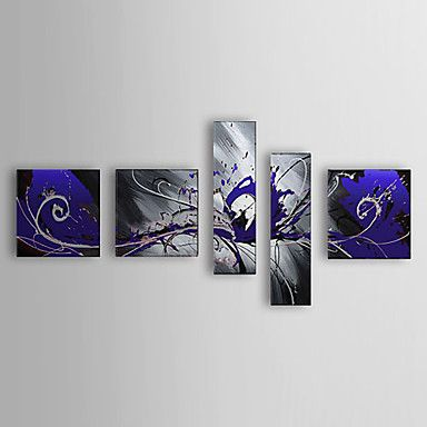 Hand Painted Oil Painting Abstract with Stretched Frame Set of 5 1307-AB0375 – USD $ 139.99