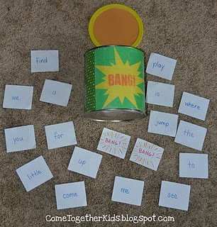 bang word game--fun way to learn sight words