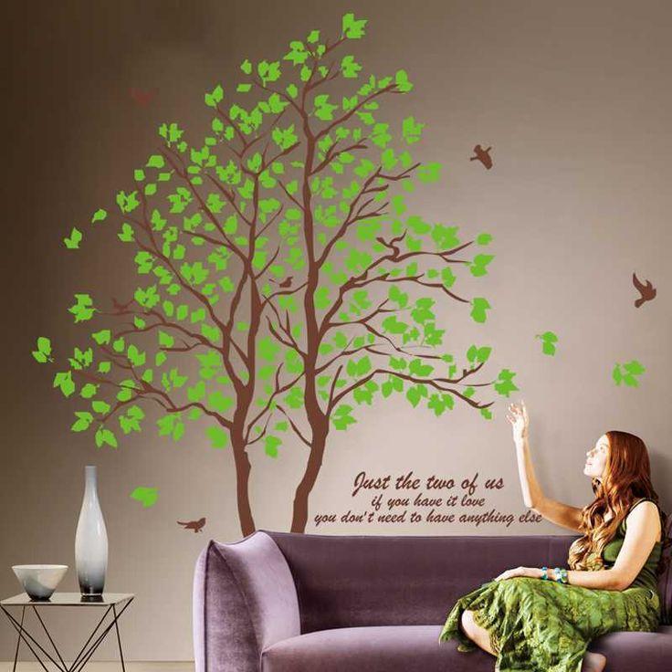 Diy древо жизни фото XL 168# большой размер наклейки на стену на стены детский сад DIY искусства виниловые наклейки на стену декор росписи