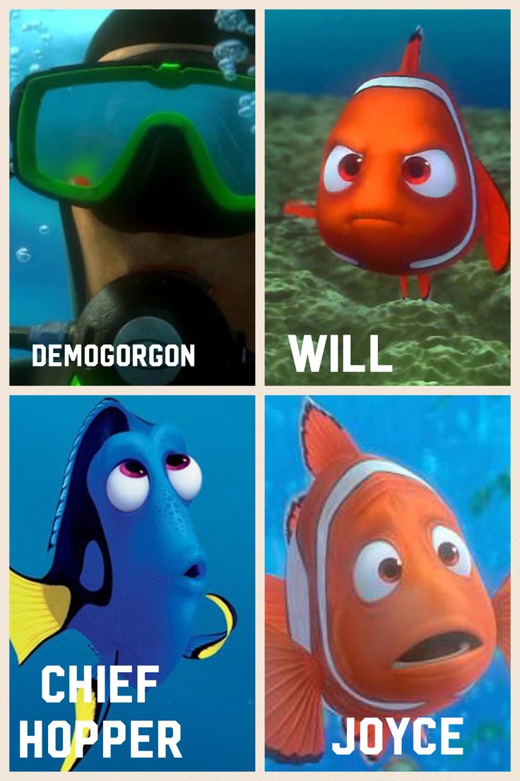 Stranger Things Character as a Finding Nemo character