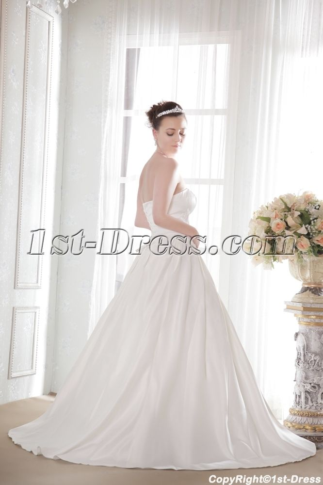 Simple Discount Bridal Gown under 150:1st-dress.com
