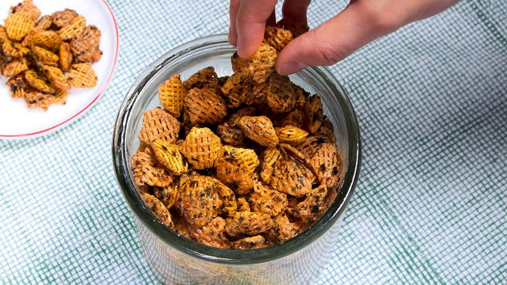 Make the ultimate snack mix with a surprising grab bag of ingredients: soy sauce, corn syrup and Crispix cereal.
